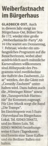 Stadtspiegel Weiberfastnacht 2013