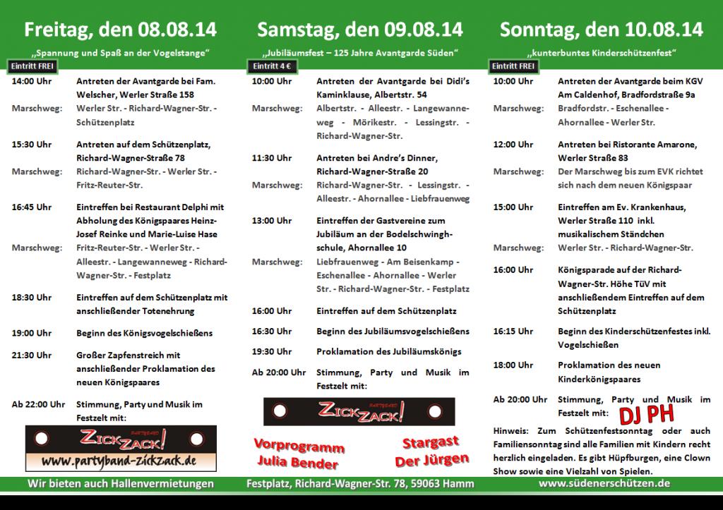 Schützenfest flyer