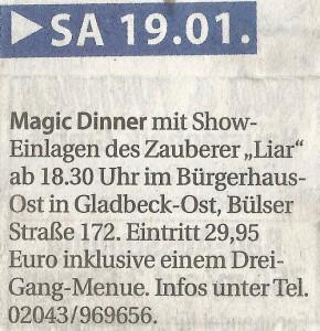Bürgerhaus Gladbeck Ost Zauberei