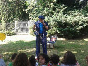 Sommerfest kindergarten Gelsenkirchen mit Zauberer LIAR