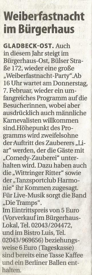 Weiberfastnacht 2013 Stadtspiegel